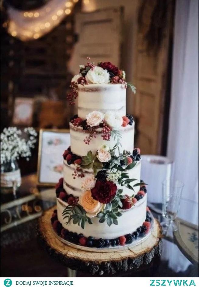 Rustykalny tort