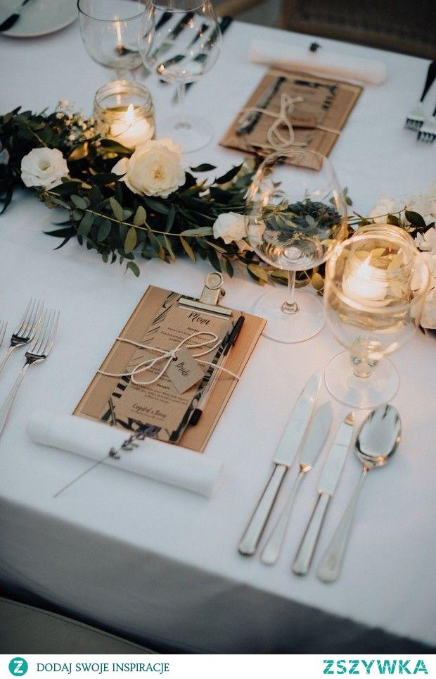 rustykalne nakrycie stołu