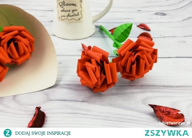 Tutorial ukazujący sposób tworzenia prześlicznej róży z papieru :)