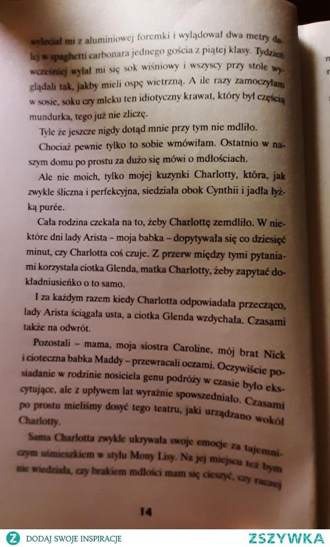 """Co chwila dalsze strony książki """"Czerwień rubinu"""" - 2"""