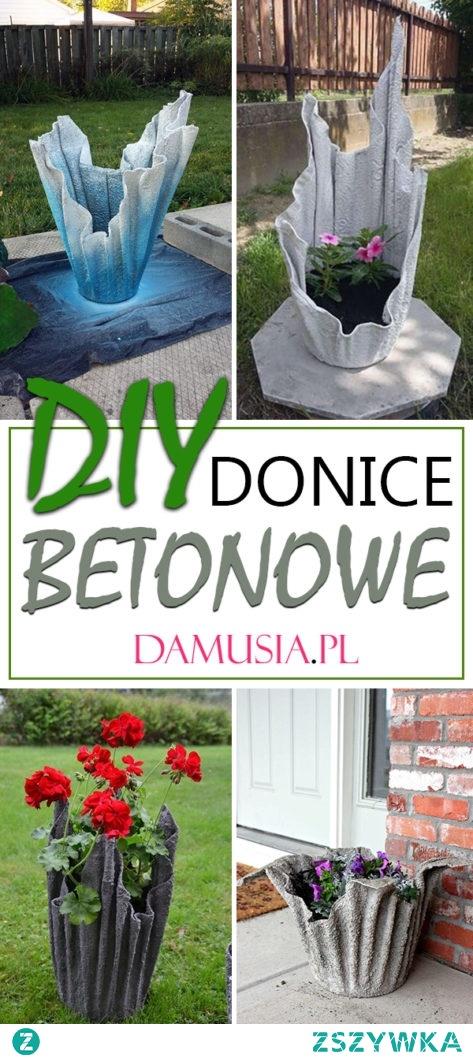 DIY Donice Betonowe – TOP 19 Inspiracje na Ręcznie Robione Doniczki z Betonu