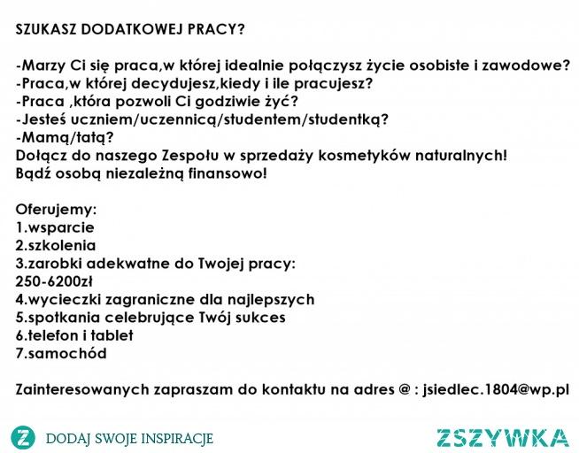 zapraszam na @ : jsiedlec.1804@wp.pl