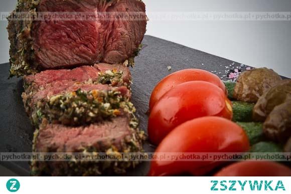 Stek z sosem z zielonego pieprzu