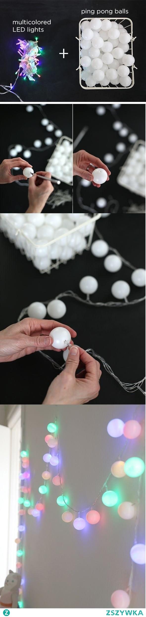 Cotton balls z piłeczek pingpongowych.  Ciekawe... wypróbuje.