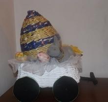 Wóz z jajkiem - papierowa w...