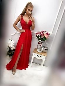 DIVA - Długa sukienka z dek...