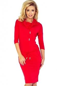 Sportowa sukienka z golfem ...