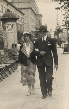 Lucyna Rychter i Jerzy Domański - Warszawa 1934 r.