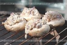 Pieczarki faszerowane z grilla