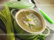 Zupa z porem i złotym boczkiem