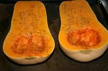 Butternut. Bakte jeg gresskaret i ovnen på 175 grader, varmluft ca. 40 minutter.