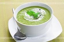 Zupa szpinakowa z czosnkiem