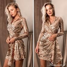 Cekinowa sukienka- idealna ...