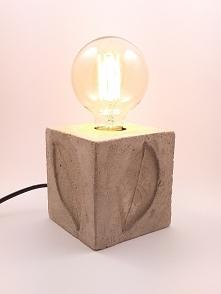 lampa cementowa Liście