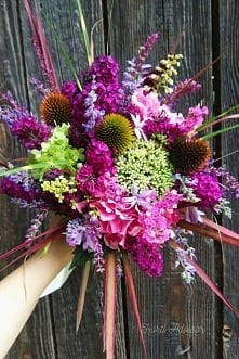 Here is home-made bouquet f...