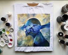 Koszulka ręcznie malowana, ...