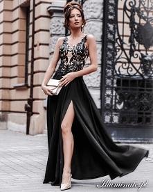 Długa czarna sukienka wiecz...