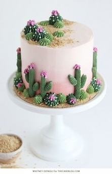 birthday cake with cactus