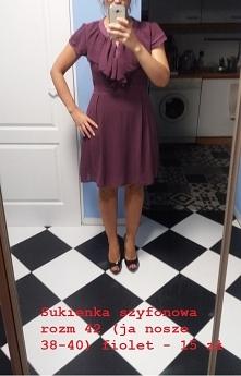 sprzedam sukienka fioletowa...
