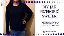 """Sweter z golfem za bardzo dusi Cię w szyję? Sprawdź jak go przerobić na """"normalny"""" sweter!  KLIKnij w zdjęcie lub zajrzyj na blog Adzik-tworzy.pl"""