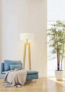 Drewniana lampa podłogowa B...