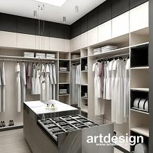 Duża, wygodna garderoba dla eleganckiej kobiety | FORGET-ME-NOT | Wnętrza rezydencji