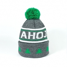 Ciepła czapka zimowa z pomponem  Kolorowa czapka zimowa na mroźne i szare dni...