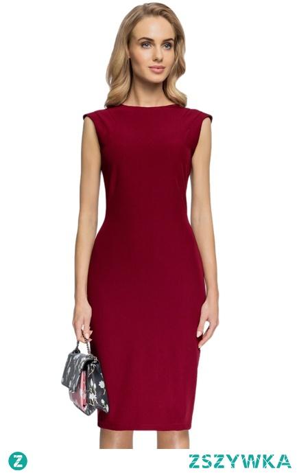 Elegancka ołówkowa sukienka z modnymi detalami
