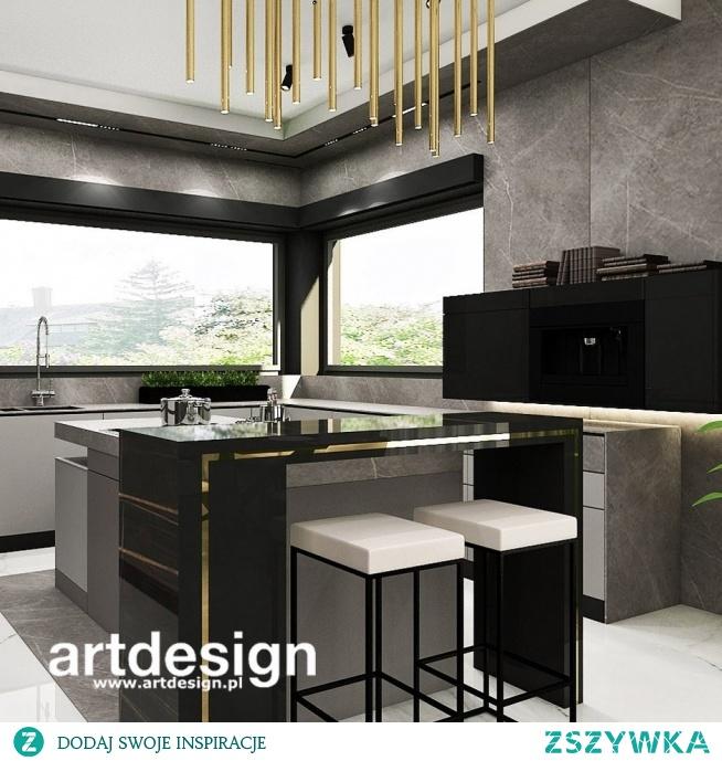 Elegancka, nowoczesna, ponadczasowa kuchnia z wyspą   FULL STEAM AHEAD!   Wnętrza domu