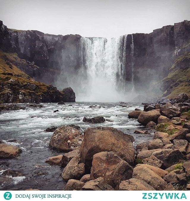 Wspomnienia z Islandii wciąż żywe :) Wodospad Gufufoss #islandia #islandia