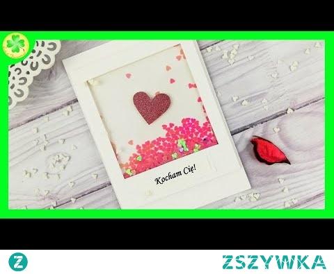 Kartka walentynkowa - Serca w Ramce (DIY)