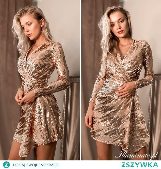 Cekinowa sukienka- idealna na każdą okazję tylko na illuminate.pl