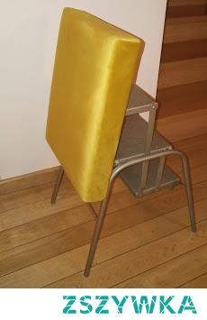 łatwe tapicerowanie taboretu ze schodkami