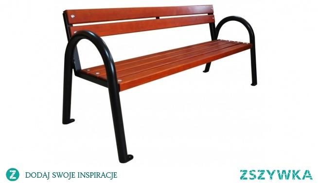 Ławka metalowa z oparciami z desek Classic Eco-Market.pl