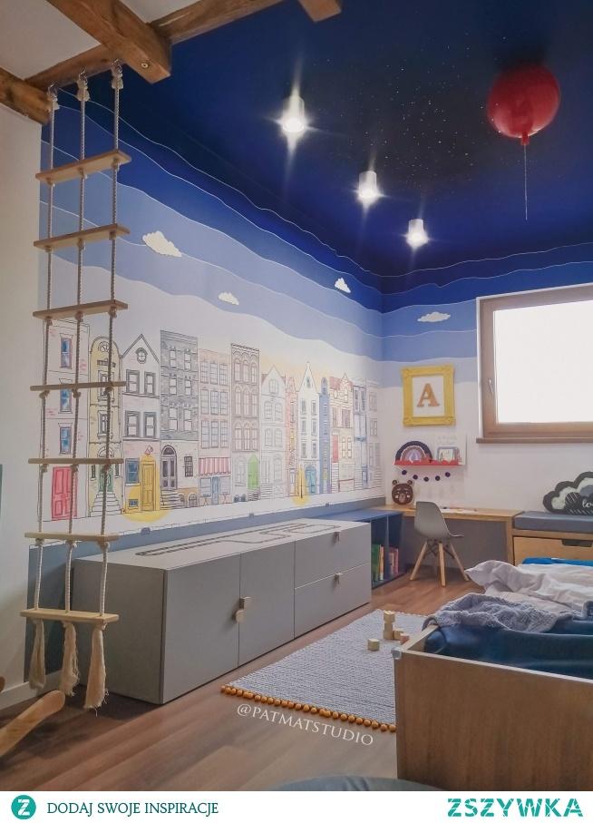Pokój mojego syna. Ściany i sufit malowałam sama @patmatstudio