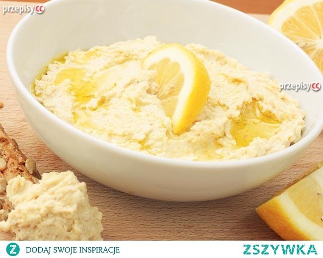Hummus z ciecierzycy z sokiem z cytryny