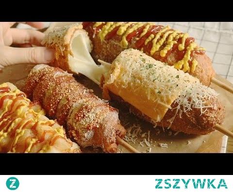 5가지 치즈 핫도그 만들기 Cheese Corn Dogs Recipe