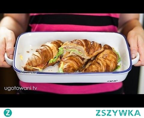 Croissanty zapiekane z boczkiem (szynką) i serem - Pyszne i szybkie | Ugotowani.tv HD
