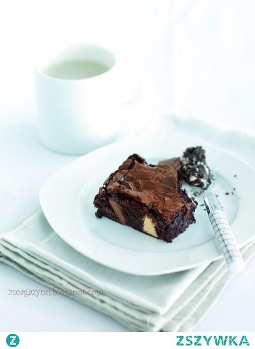 Łaciate brownies
