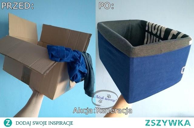 Potrzebny Ci organizer do szafy? Zamiast kupować plastikowe pojemniki - wykorzystaj to, co możesz znaleźć w domu!  Stwórz swój własny organizer do szafy, przerabiając karton oraz stare/znoszone/niepotrzebne już ubrania.  KLIKnij w zdjęcie po szczegóły lub zajrzyj po więcej przeróbkowych i recyklingowych inspiracji na blog DIY Adzik-tworzy.pl