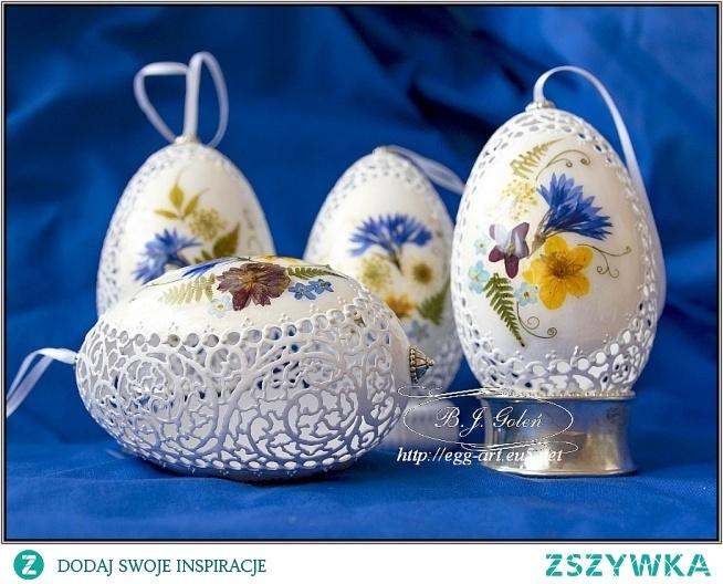 Ażurowe pisanki i polne kwiaty - Bogusława Justyna Goleń