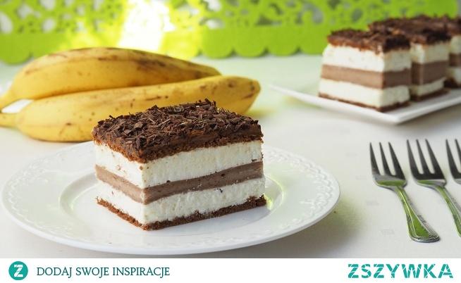 """Ciasto """"Bananowy song"""". Pyszne ciasto na zimno z bananami. Jest nie tylko genialne w smaku, ale i proste w wykonaniu.  Intensywny smak bananów, krem z bitej śmietany zaspokoi niejednego łasucha."""