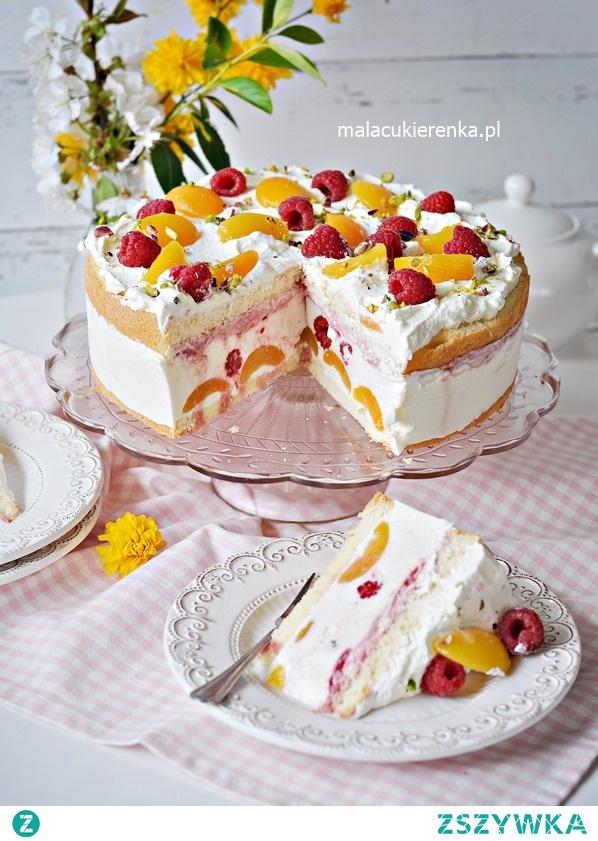 Pyszny Tort Jogurtowy z Malinami i Morelami (przepis po kliknięciu w zdjęcie)