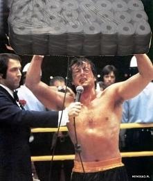 Rocky Balboa dorwał papier ...