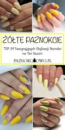 Żółte Paznokcie w Modnej Od...