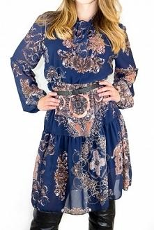 Sukienka Ambito navy blue