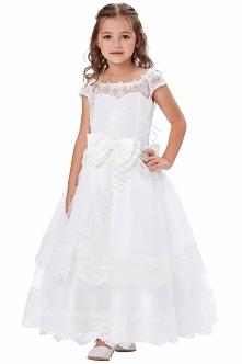Piękna biała sukienka komun...