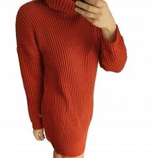 Sukienka sweterkowa z golfe...
