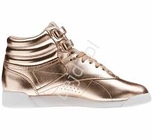 Metaliczne buty damskie Ree...