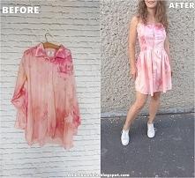 sukienka z koszuli męskiej diy